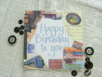Adornment - Card - Happy Birthday vintage